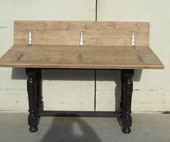 Table console catalane dépliante en chêne massif, vendue