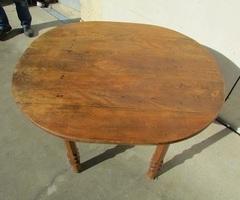 Table de cuisine , d'appoint en chêne, oblongue, vendue