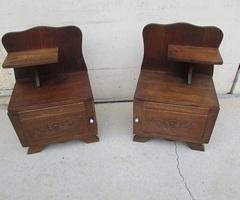 Paire de chevets art-déco , 1930-1940, en chêne , vendus