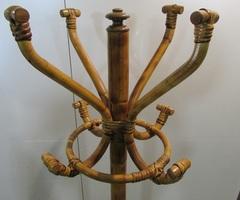 Porte_manteau , perroquet vintage en bambou