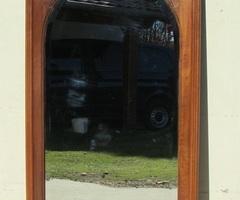 Grand miroir art déco , art nouveau en noyer et loupe de noyer vendu