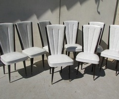 Rare suite de 8 chaises vintages , des années 50-60