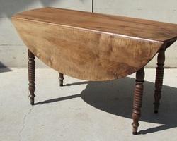 Table à abattant , en noyer , Louis Philippe