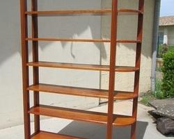 Bibliothèque ouverte , étagères en ormeau , vendue