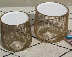 Tables basses Design , métal doré de qualité
