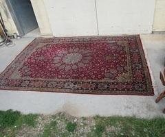 Grand tapis : 240 x 345 cm  en laine , vendu