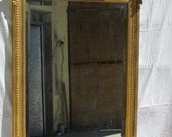 Miroir bois et stuc doré , 19 ème