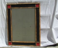 Miroir osier et rotin , Rouge & Noir , vendu