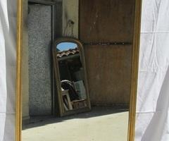 Miroir cadre bois doré, horizontal ou vertical, vendu