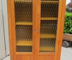 Armoire vitrée , bibliothèque d'école vintage, Vendue