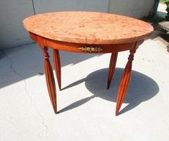 Petite table ovale en merisier art déco vendue