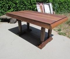 Table rectangulaire art déco en noyer , vendue