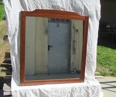 Grand miroir de salle de bain, pré-équipé pour éclairage