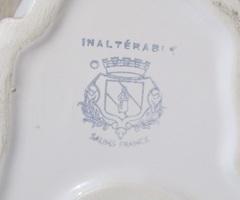 Vase contemporain en forme de hibou, céramique blanche