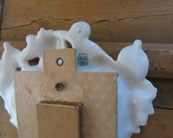 Mini psyché de table en porcelaine de Limoges