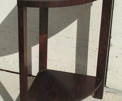 Etagère d'angle Art déco en placage ébène de Macassar ,vendue