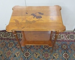 Table à thé , signée E.Gallé, Art nouveau
