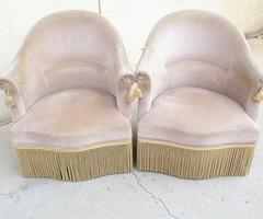 Paire de fauteuils crapaud, chauffeuses Napoléon III , vendus