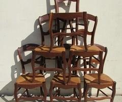 Lot de 6 chaises paillées Louis Philippe , vendues
