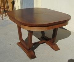 Table ovale art déco , 4 allonges,jusqu'à 18 personnes , vendue