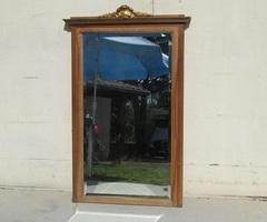 Miroir biseauté de cheminée, en noyer ,art déco, 1920 , vendu