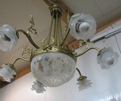 Lustre époque Art déco, goût Louis XVI , vendu
