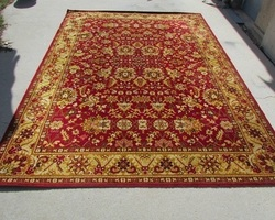 Grand tapis rouge et or, persan Tabriz, 200 x 285 cm