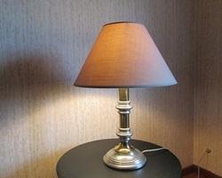 Lampe de table , étain et métal doré , 1970s