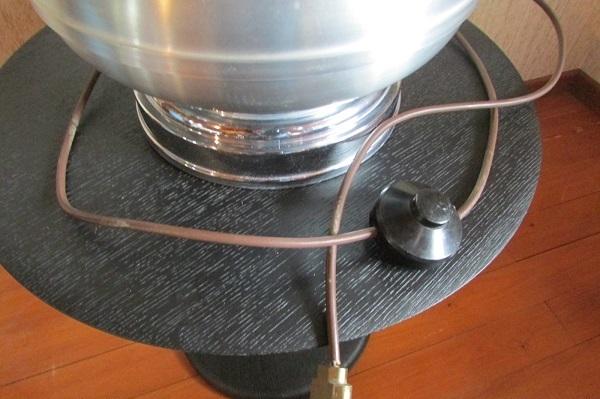 Lampe de salon, Haute, aluminium et inox, Design