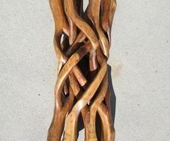 Rare pied six branches entrecoisées et plateau verre