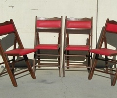 4 chaises pliantes, strapontins de théâtre, 1960s