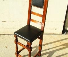 Petite chaise artisanale , bois et cuir