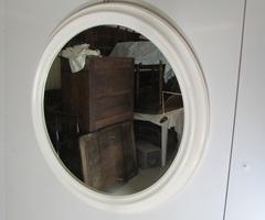Miroir rond séventies , diamètre : 64 cm