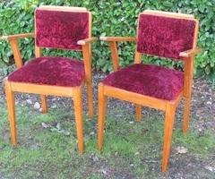 Paire de fauteuils bridge d'époque , 1940s ,vendu