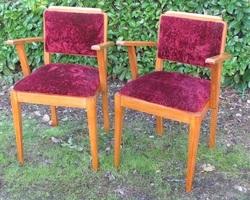 Paire de fauteuils bridge d'époque , 1940s , 140 euros