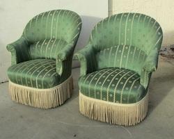 Paire de fauteuils crapauds , style Napoléon III