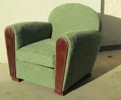 Fauteuil vintage club, année 50 , vendu
