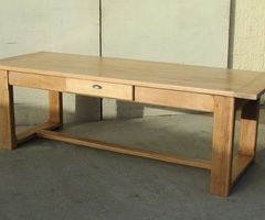 Table de ferme en chêne massif , 250 cm , vendue