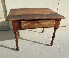 Ancienne table de communauté, table d'écriture, patinée