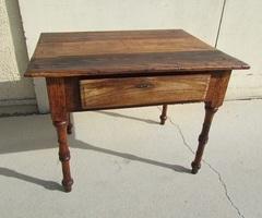 Ancienne table de communauté, table d'écriture, patinée vendue