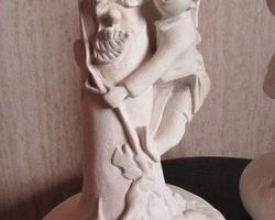 Paire de vases en plâtre , epreuve, état brut