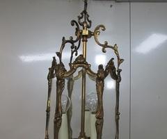 Lanterne 3 feux en bronze doré