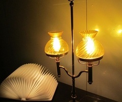 """Lampe de bureau dit """" quinquet """""""