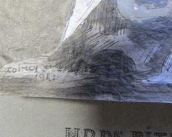 Dessin au fusain de ND de Pitié De Cap Breton