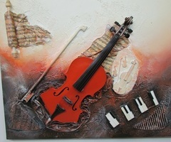 Tableau en relief, peinture à l'huile , vendu