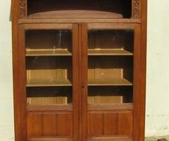 Bibliothèque art déco en chêne , vendue