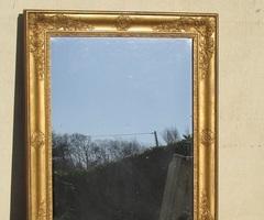 Miroir rectangulaire bois doré , vendu