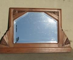 Miroir art déco en frêne , vendu