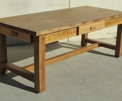 Table de ferme campagnarde en chêne , vendue