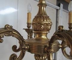 Lustre bronze 6 feux , style Louis XV